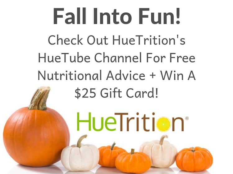 HueTube - Free Nutritional Advice + Win A $25 Gift Card Giveaway! Ends 10/24
