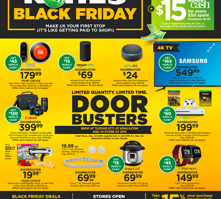 Kohls Black Friday Deals Available Online NOW!