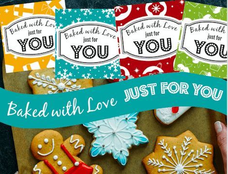 Baked With Love Printable Recipe Tags + Recipe Cards