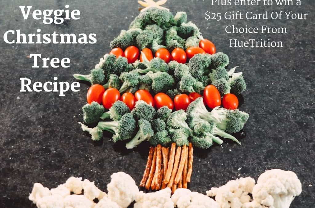 Veggie Christmas Tree Recipe + Win A $25 Gift Card