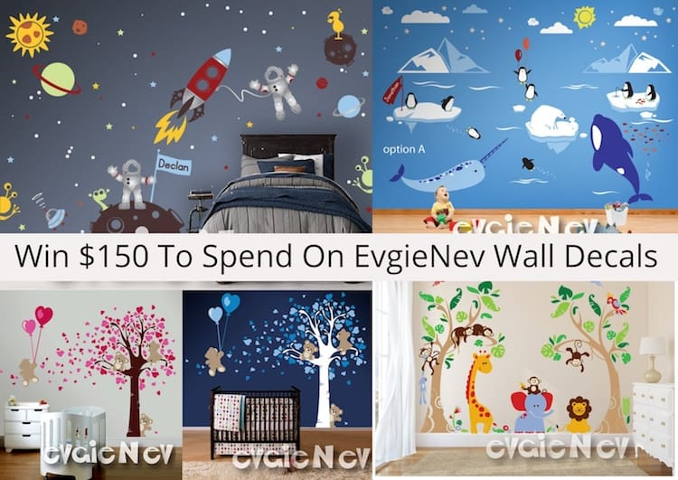 How Adorable Are These Teddy Bears Valentines Wall Decals + Win $150 To Spend On EvgieNev Wall Decals