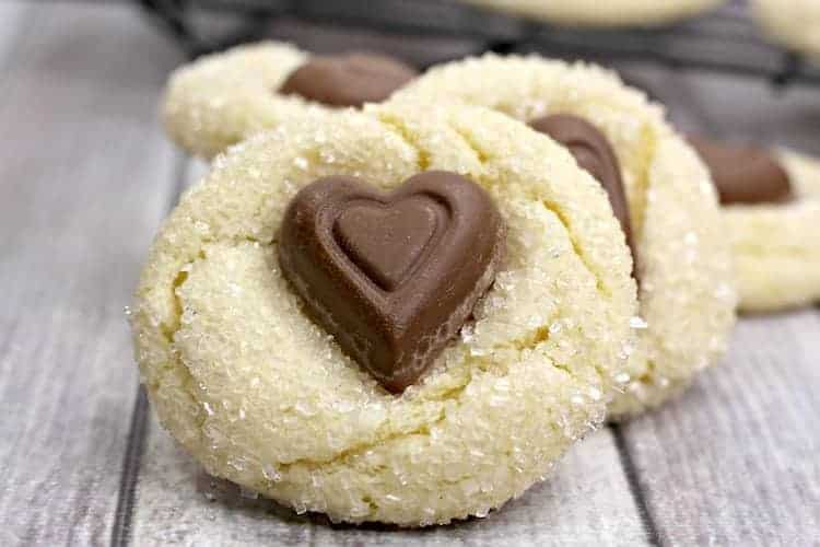 White Chocolate Crinkle Cookies
