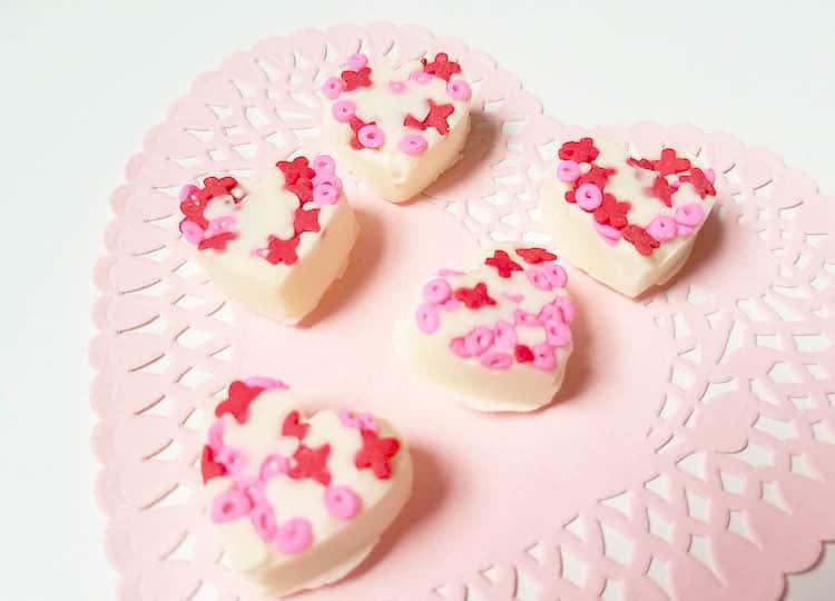 White Chocolate Almond Hearts