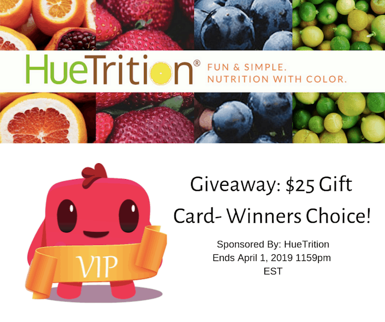 HueTrition Giveaway! $25 gift card (winners choice) #HueTrition