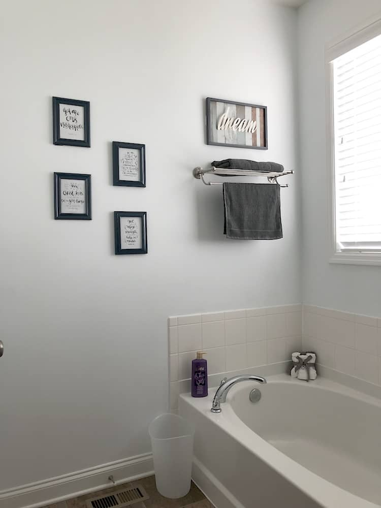 Budget Friendly Bathroom Makeover At Family Dollar + Save On