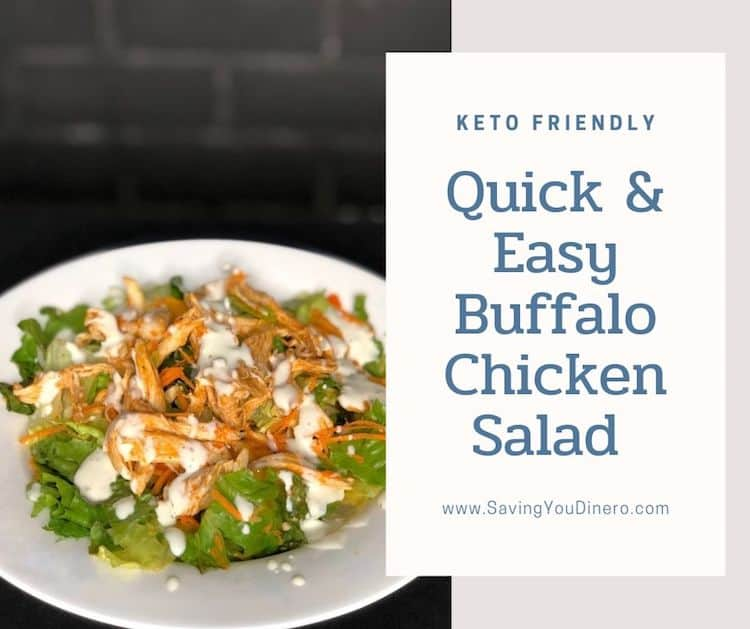 Buffalo Chicken Salad For A Crowd (Keto Friendly)