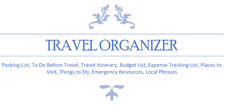 image relating to Travel Planner Printable referred to as No cost Printable Push Planner - Preserving Yourself Dinero