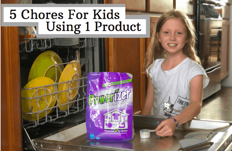 5 Chores For Kids Using 1 Product