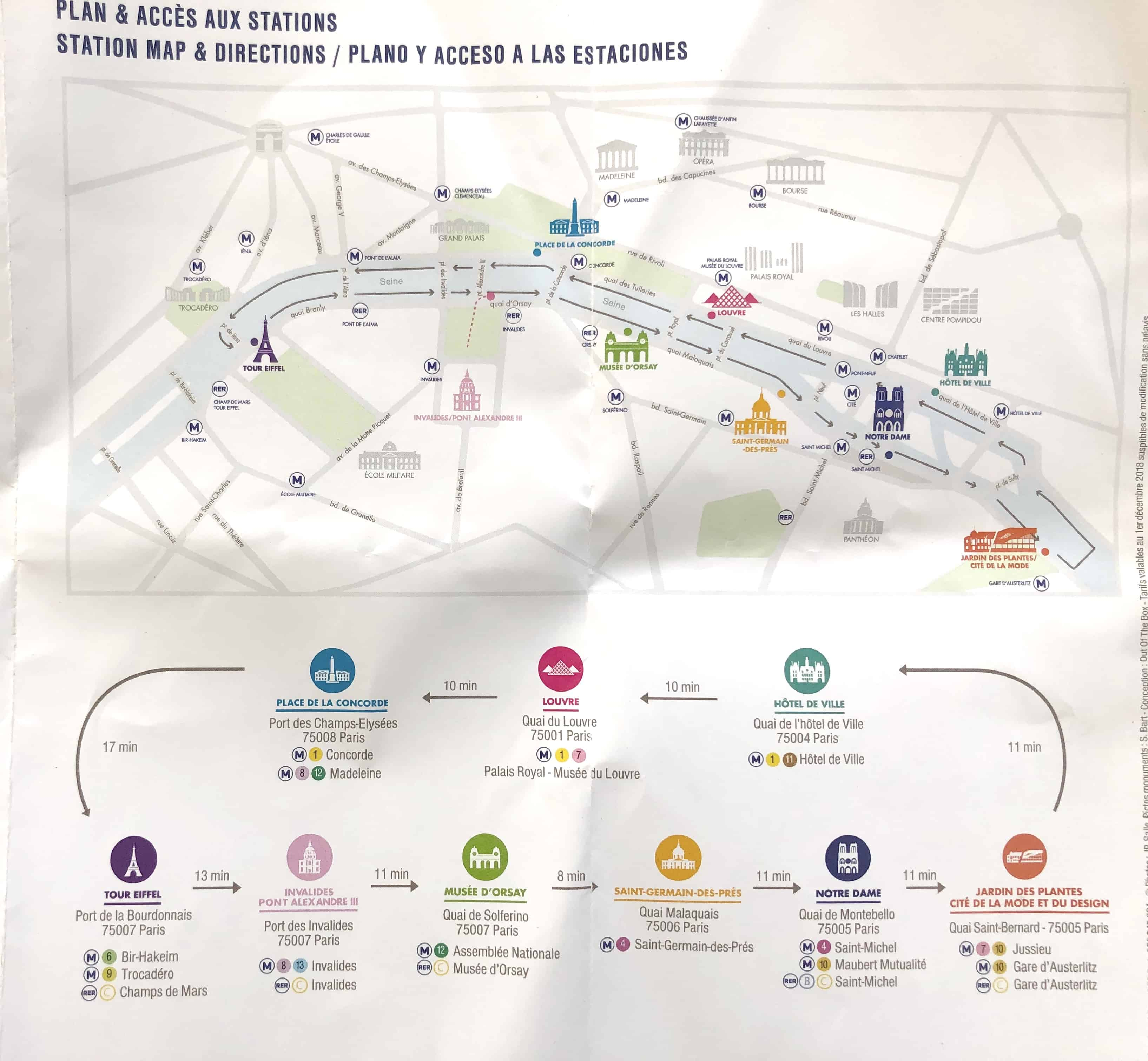How To Get Around Paris Batobus map