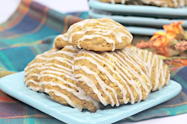 Pumpkin Cookie Recipe With A Maple Drizzle