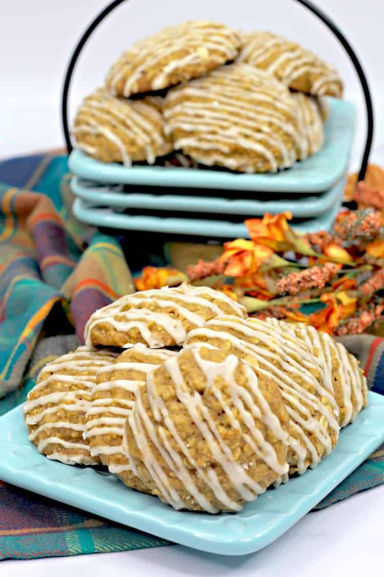 Starbucks is officially selling Pumpkin Spiced Coffees so now you need to try this Pumpkin Cookie Recipe With A Maple icing!