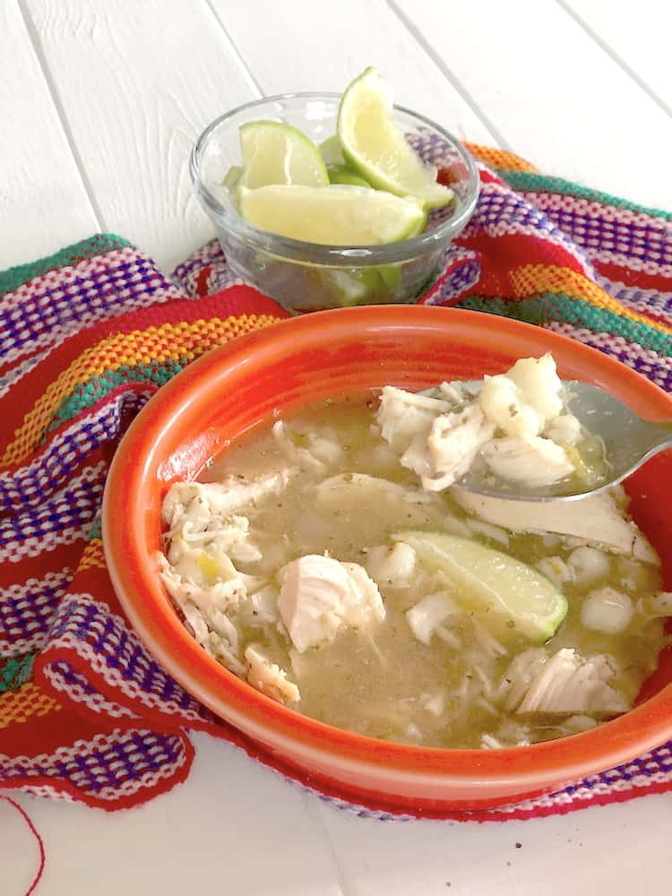 Easy Slow Cooker Chicken Pozole Recipe