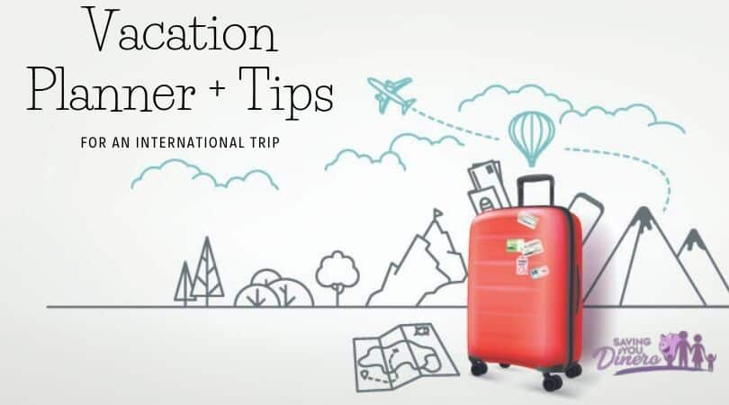 Vacation Planner For An International Trip + Tips