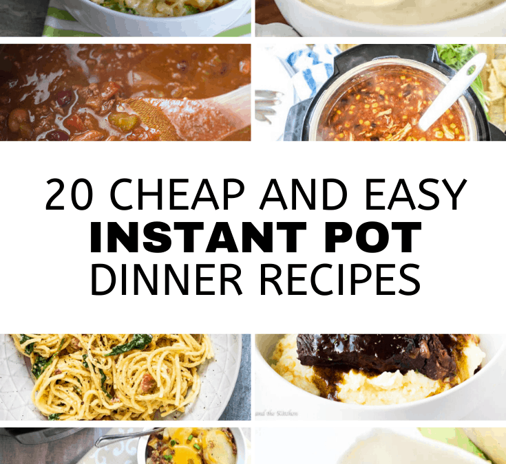 20 Cheap and Easy Instant Pot Dinner Recipes
