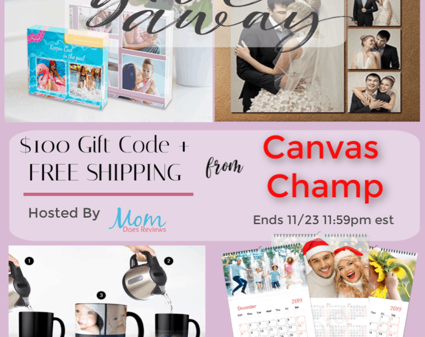 Win $100 Gift Code From Canvas Champ + FREE SHIPPING