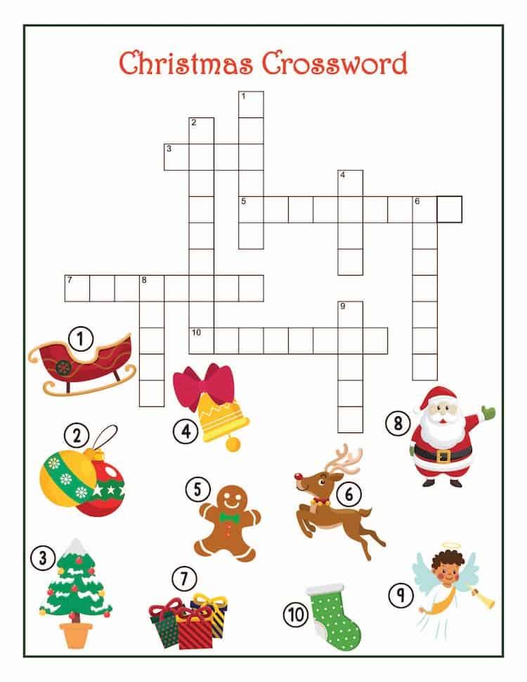 Free Christmas Printable Games - Christmas Crossword Puzzle