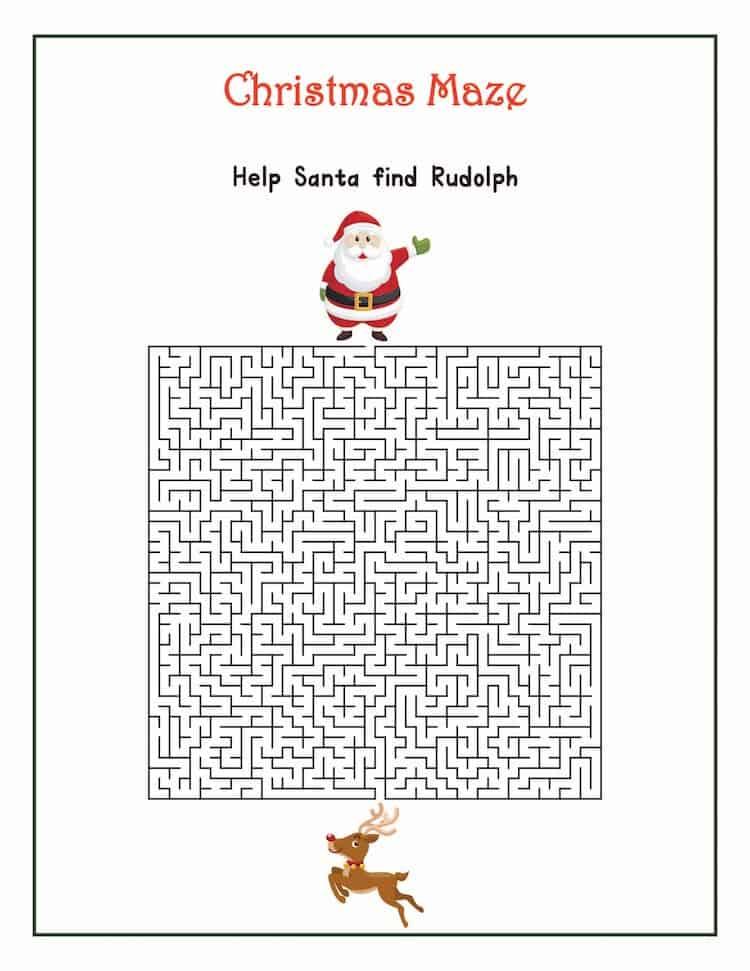 Free Christmas Printable Games - Christmas Maze