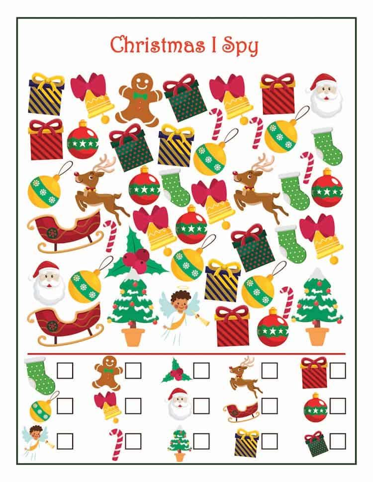 Free Christmas Printable Games - Christmas I-Spy
