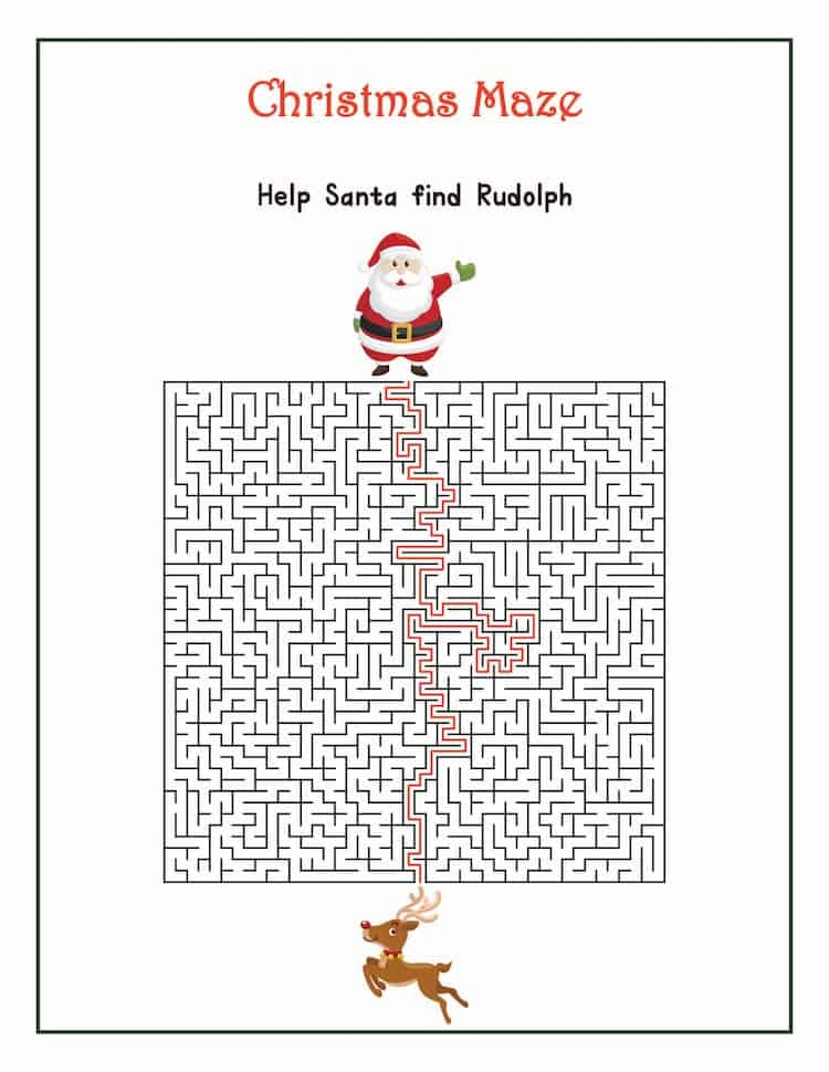 Christmas Mazes - Best Coloring Pages For Kids | 970x750