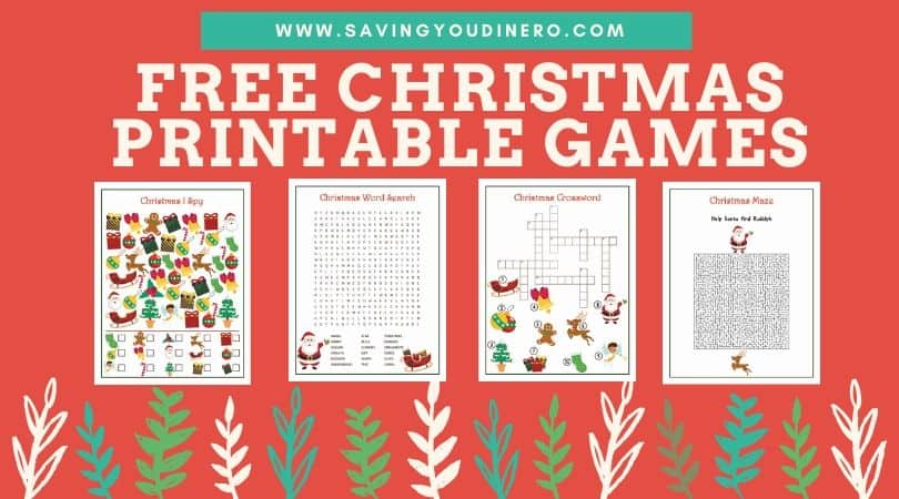 Free Christmas Printable Games - Saving