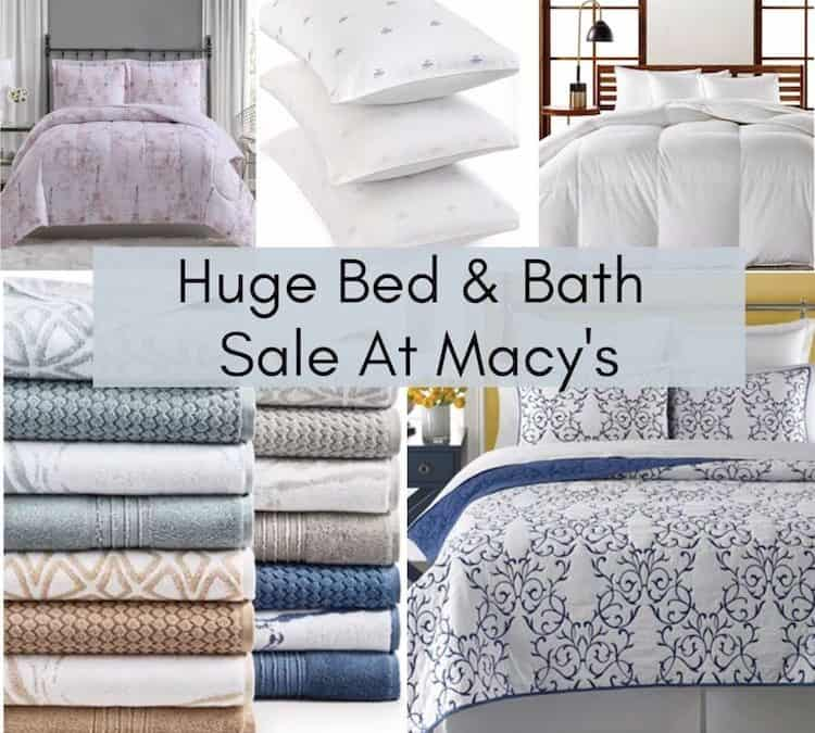 Huge Bed & Bath Sale At Macy's