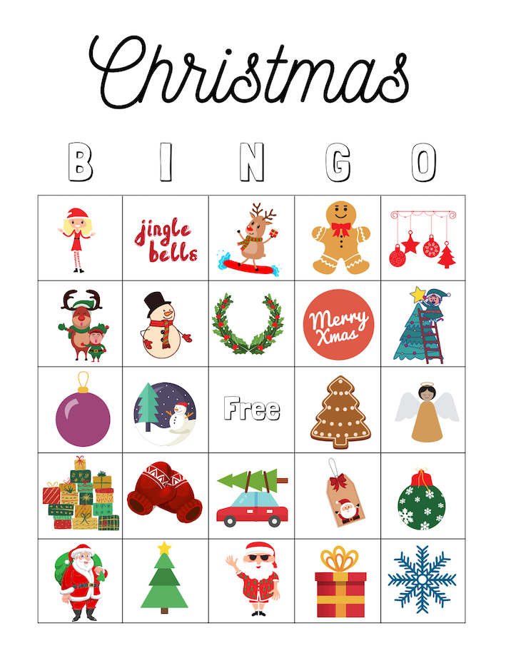 Free Christmas Game Printables for Kids including I Spy, Christmas Maze, Christmas Crossword Puzzle, and Christmas Word Search.