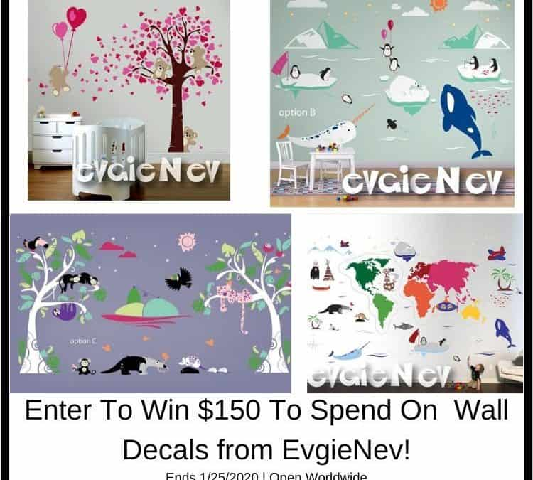 Enter to win $150 of Wall Decals from EvgieNev!