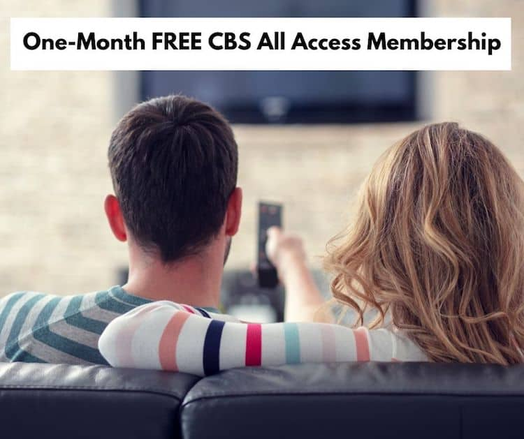 One-Month FREE CBS All Access Membership