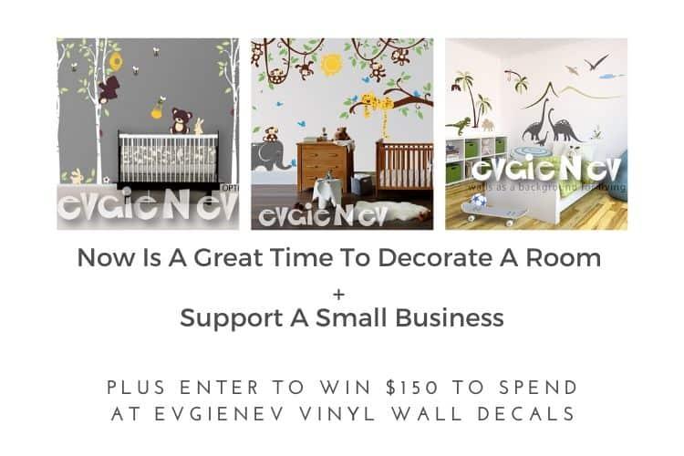 $150.00 EVGINEV VINYL WALL DECALS #Giveaway