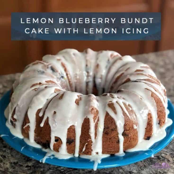 Lemon Blueberry Bundt Cake With Lemon Icing