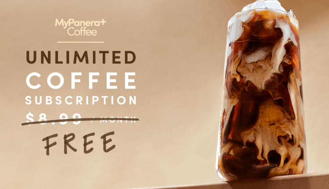 Free Coffee, Iced Coffee or Hot Tea From Panera Bread!
