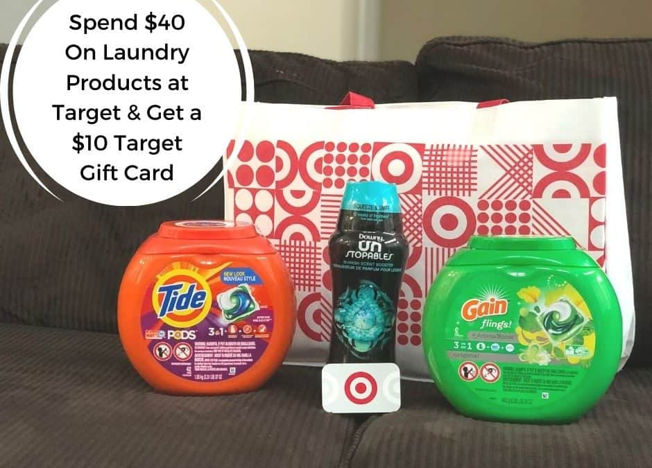 Stock Up On Laundry Products And Save At Target!