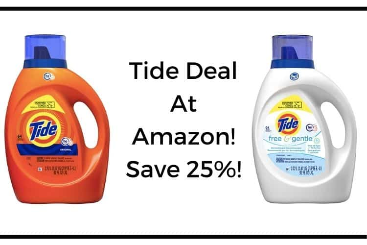 Tide Deal At Amazon – Save 25%!