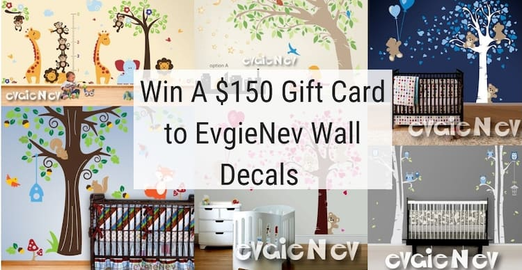 Win $150 To Spend On Wall Decals From EvgieNev!