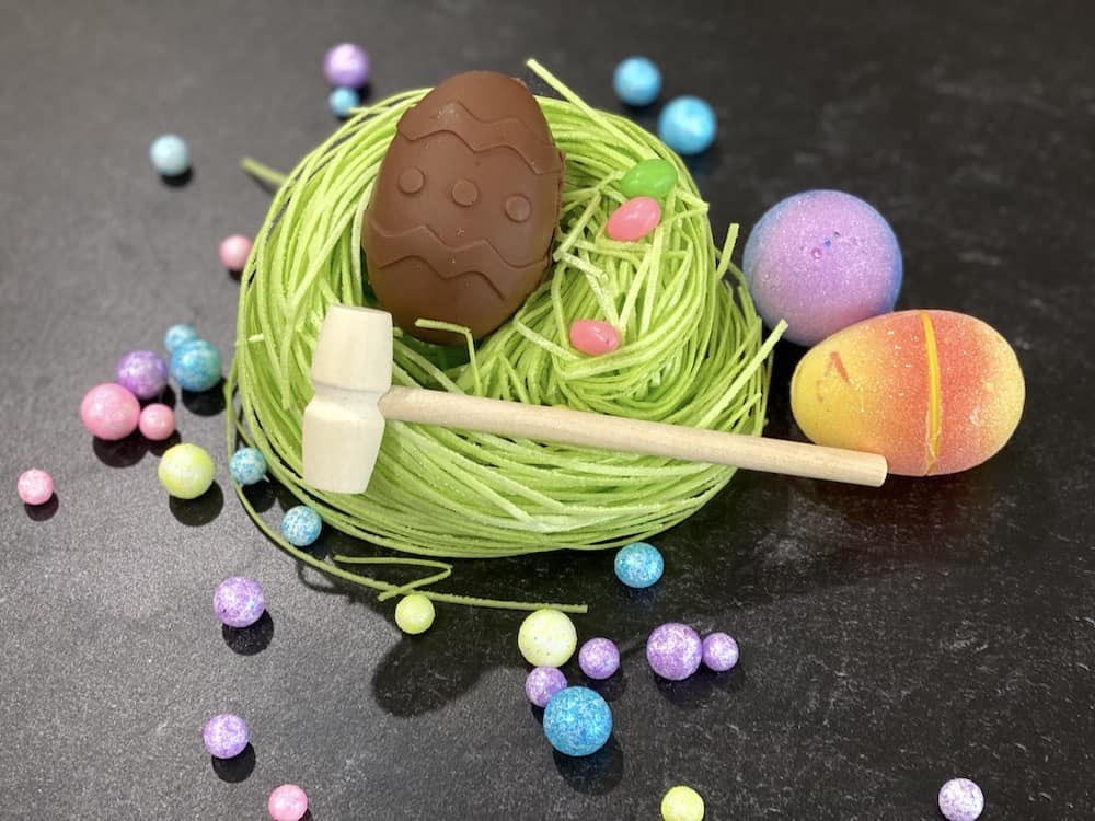 DIY Breakable Easter Eggs are going to be part of every Easter basket! Fill it with anything you want for an Easter surprise!
