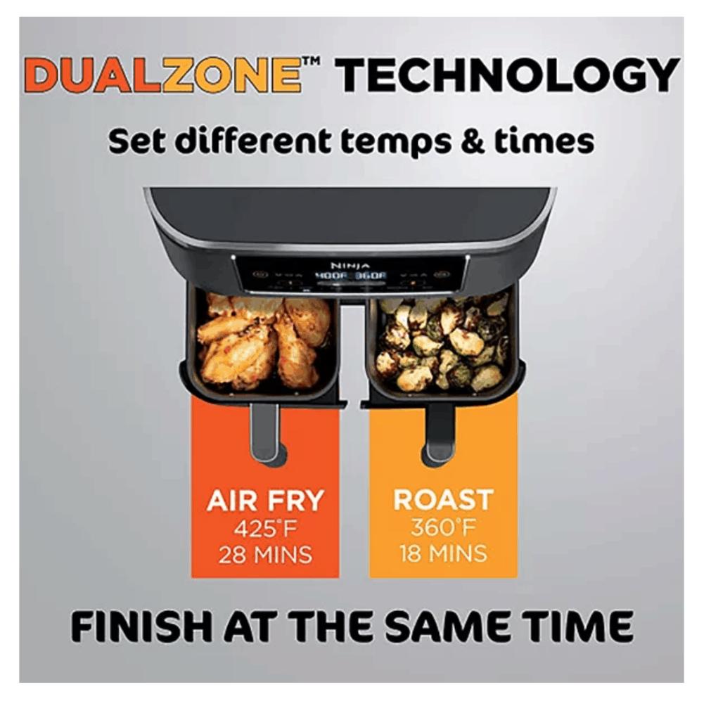 Ninja Foodi 6-in-1 2-Basket Air Fryer with DualZone Technology