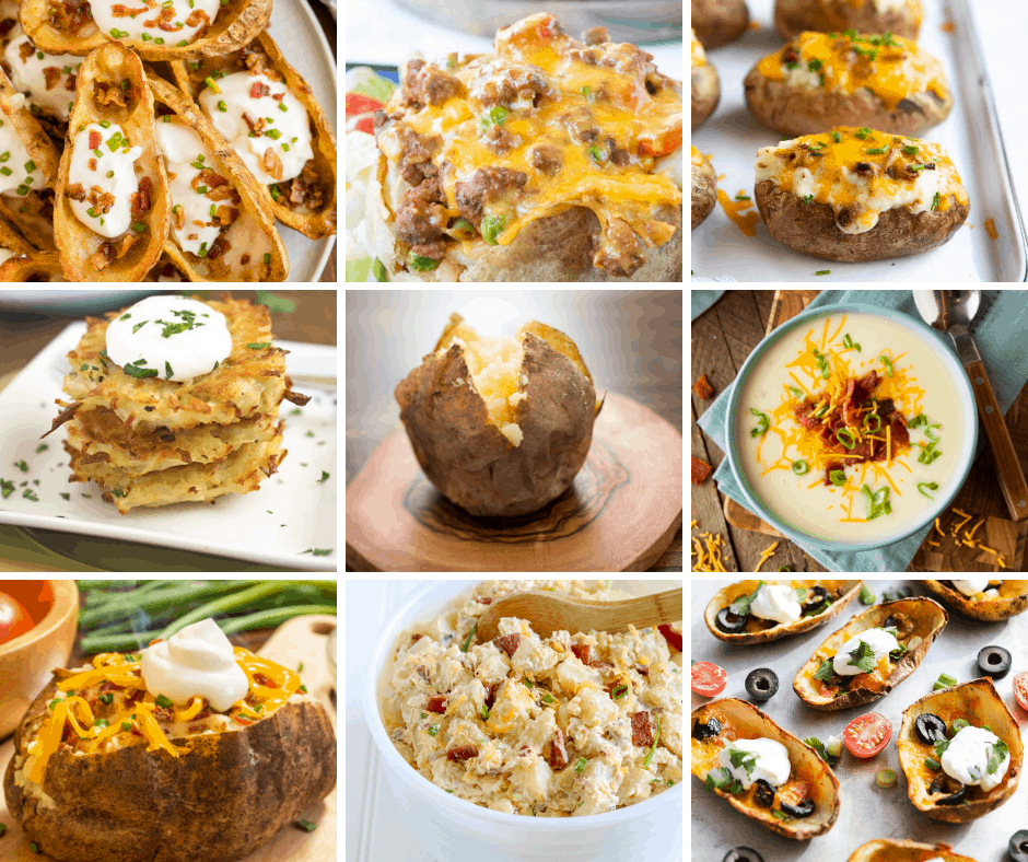 If you have leftover baked potatoes - you need to check out this list of easy Leftover Baked Potato Recipes! It's so versatile!