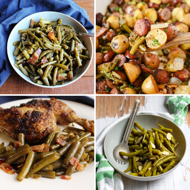 Make one of these delicious canned green beans recipes for dinner or a holiday meal! They are easy and delicious!